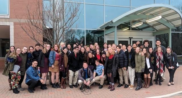 Centereach HS Chorus Spreads Holiday Cheer at St.Charles Hospital