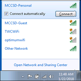 wifi connect option