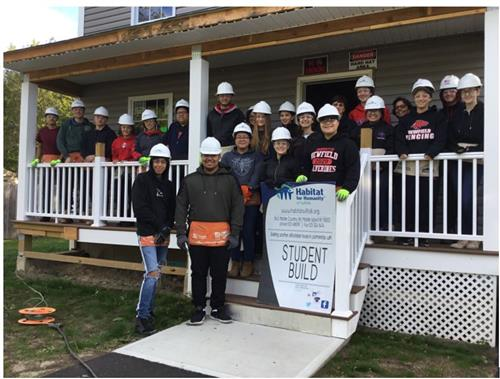 NHS DECA and Varsity Leaders Club Habitat for Humanity Trip