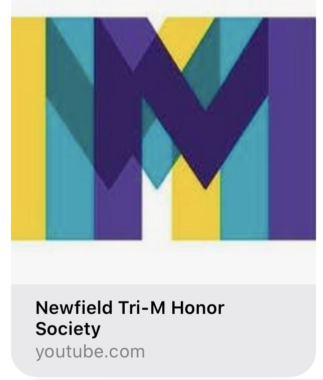 Newfield Tri-M Virtual Recital Success and Link