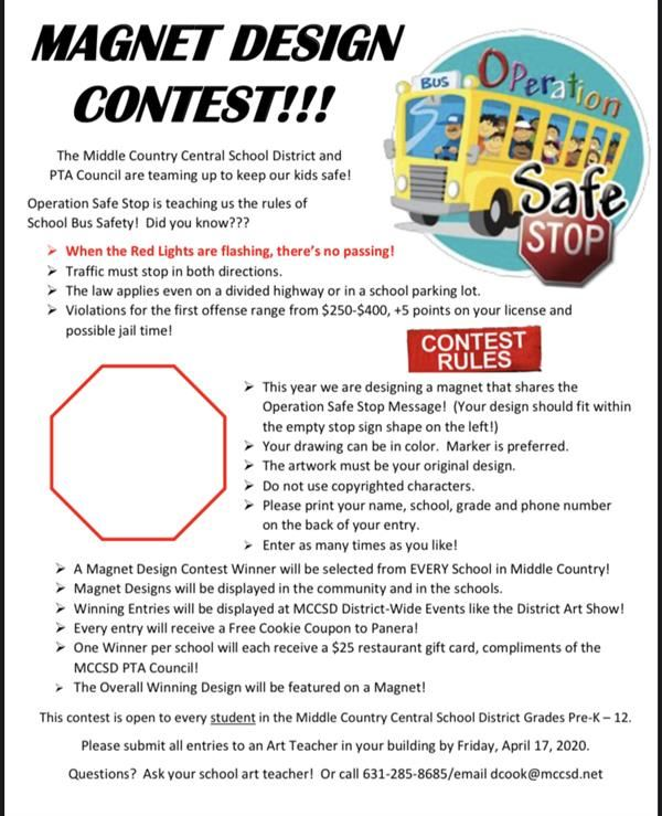 Magnet Design Contest for Operation Safe Stop School Bus Safety