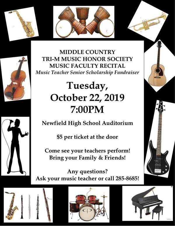 Music Faculty Recital Tuesday Night Oct 22