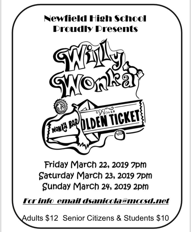 Newfield Musical Presents:  Willy Wonka