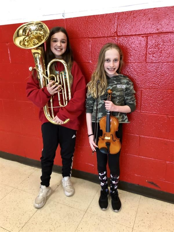 Congrats NCR SCMEA All-County Musicians Gabriella Lynch and Jenna Valfer