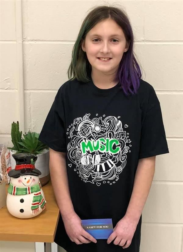 Congrats Kaelyn Spindler, Winner of Friends of Music T-Shirt Design Contest