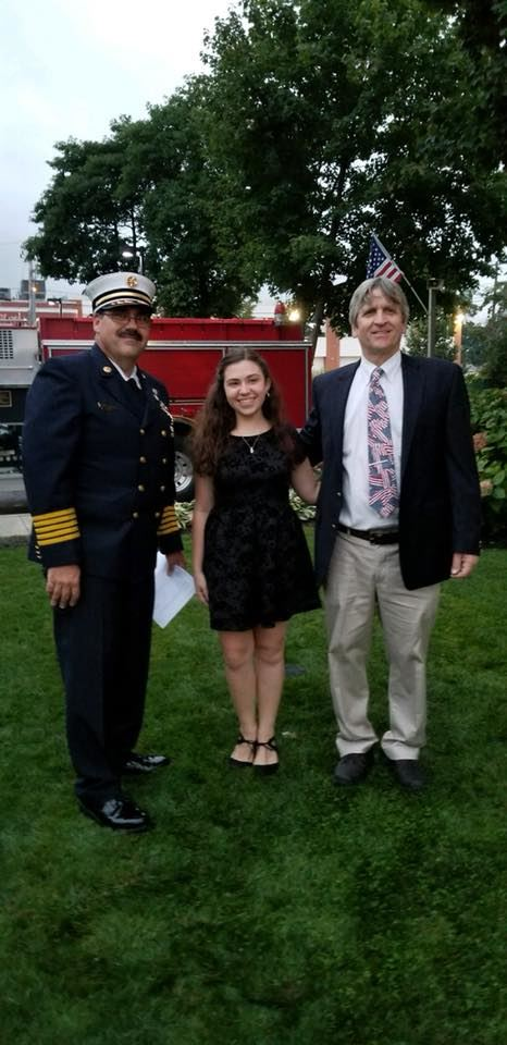 9-11 Memorial Ceremony at Selden Fire House