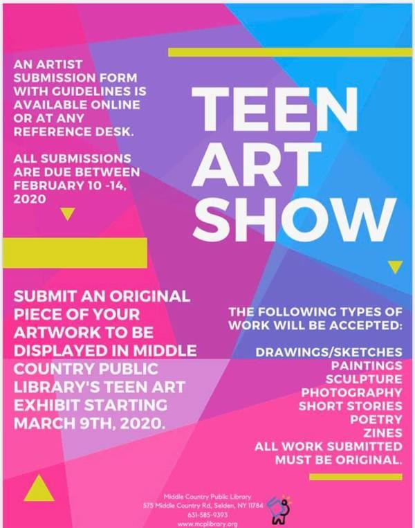 Attention HS/MS Artist:  Check out this Opportunity!