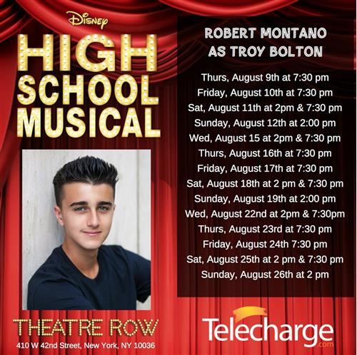 CHS Robert Montano Selected for Lead Role in NYC
