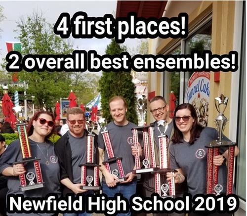 Congatulations to NHS Music Dept on 4 1st Place Wins in Competition in NY