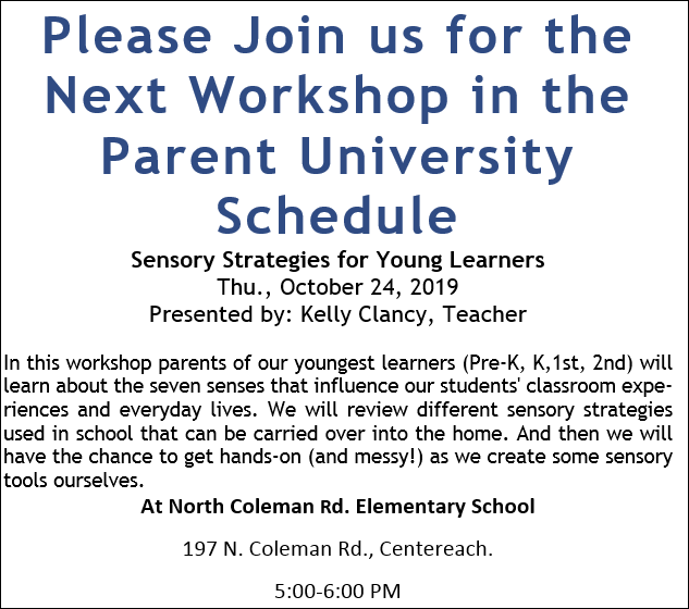 Parent University Workshop