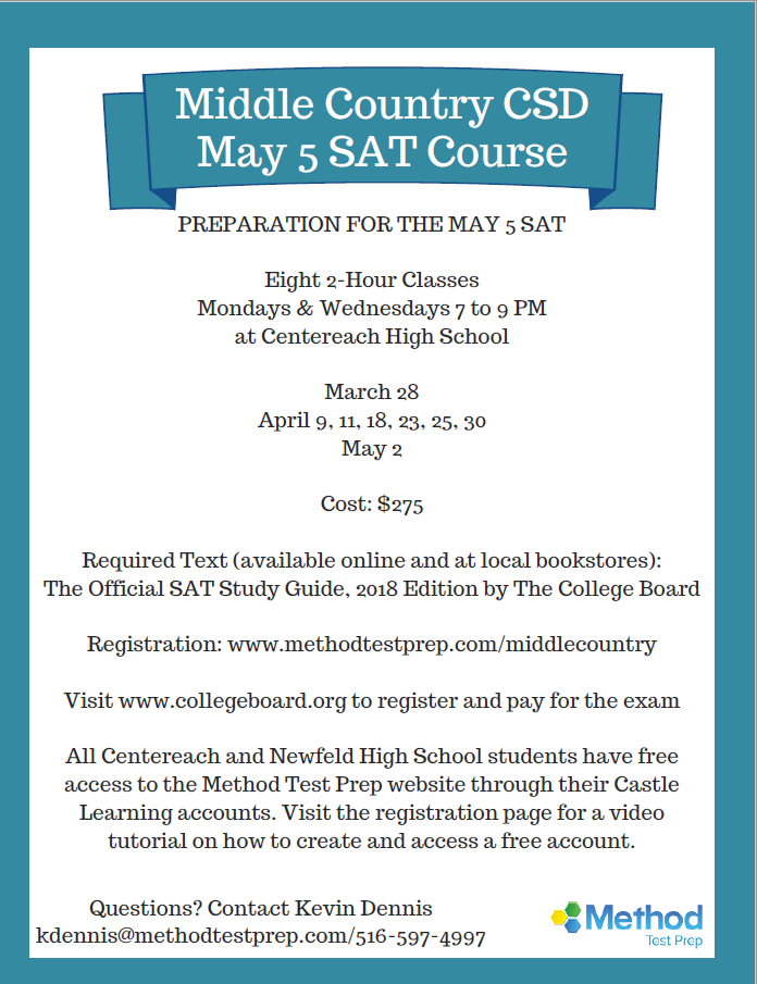 Middle Country CSD May 5 SAT Course
