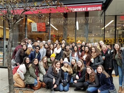 CHS Spanish Honor Society Members visit the Tenement Museum