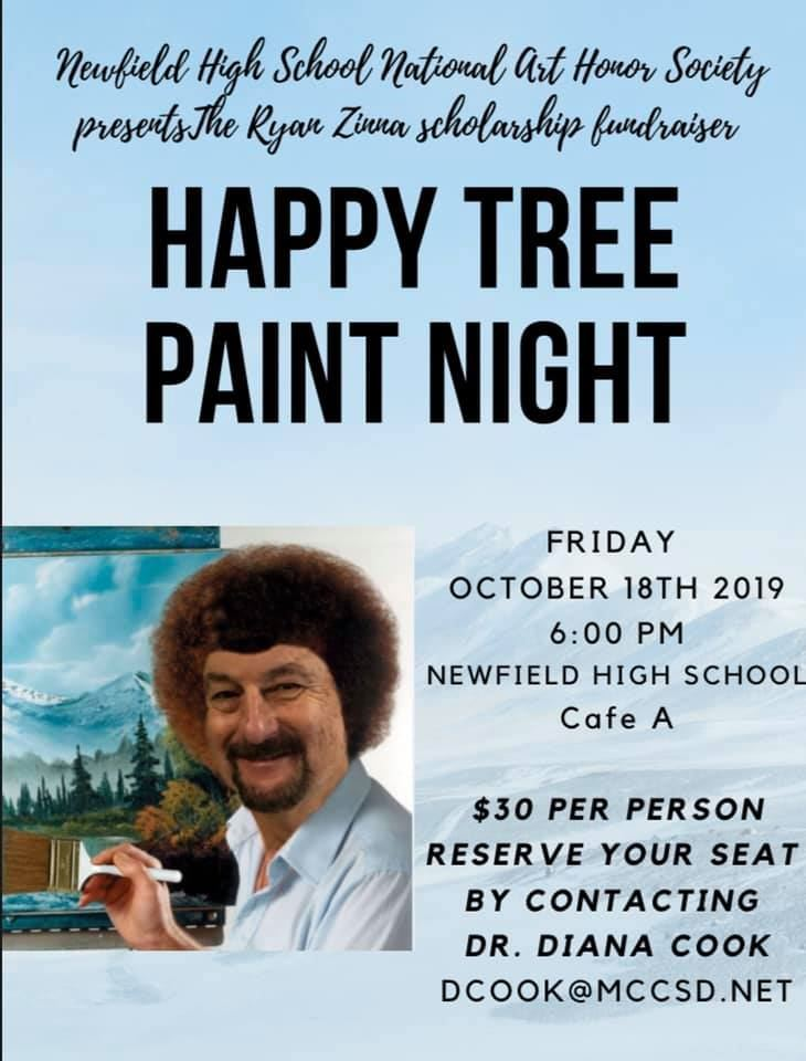 Zinna Scholarship Paint Night October 18!