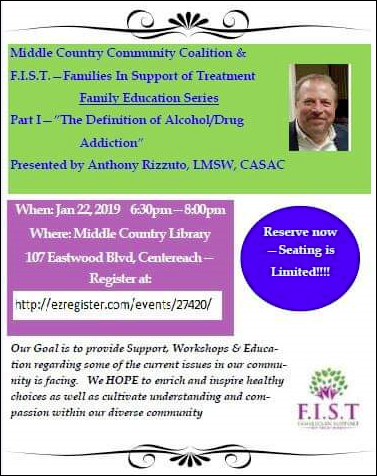 "F.I.S.T- Part I ""The Definition Of Alcholol/Drug Addiction""  1/22/19"