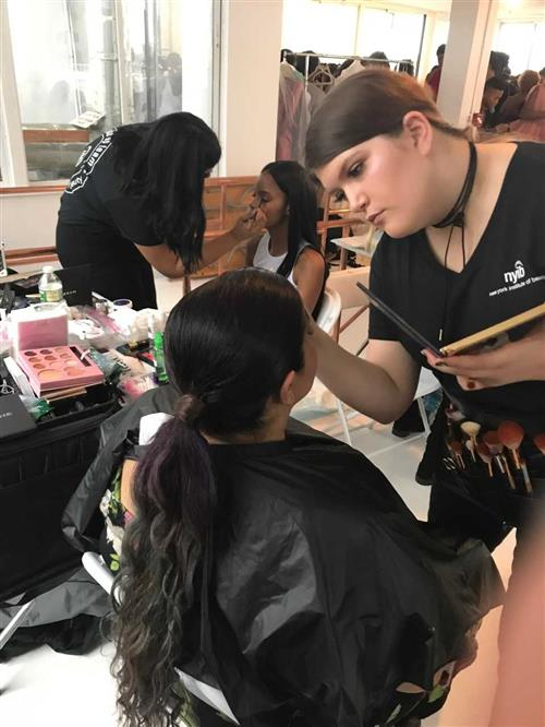 Centereach & Newfield Cosmetology students worked alongside of New York Institute Of Beauty and participated in Fashion Week!