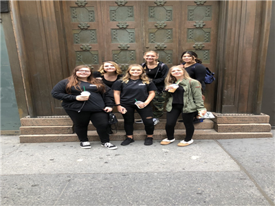 Centereach Cosmetology Students work at Fashion week in NYC