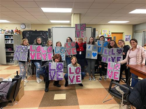 The Cosmetology SKILLS USA club hosted a Paint Nite Fundraiser on 2/10/20